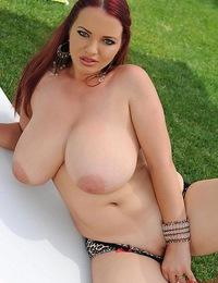 Joanna\\'s big lovely tits on the new day\\'s morning horizon!